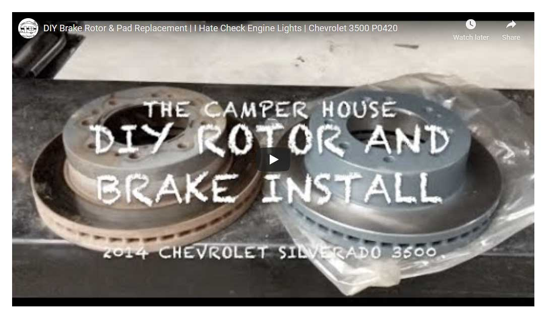 DIY Brake Rotor & Pad Replacement | I Hate Check Engine Lights | Chevrolet 3500 P0420