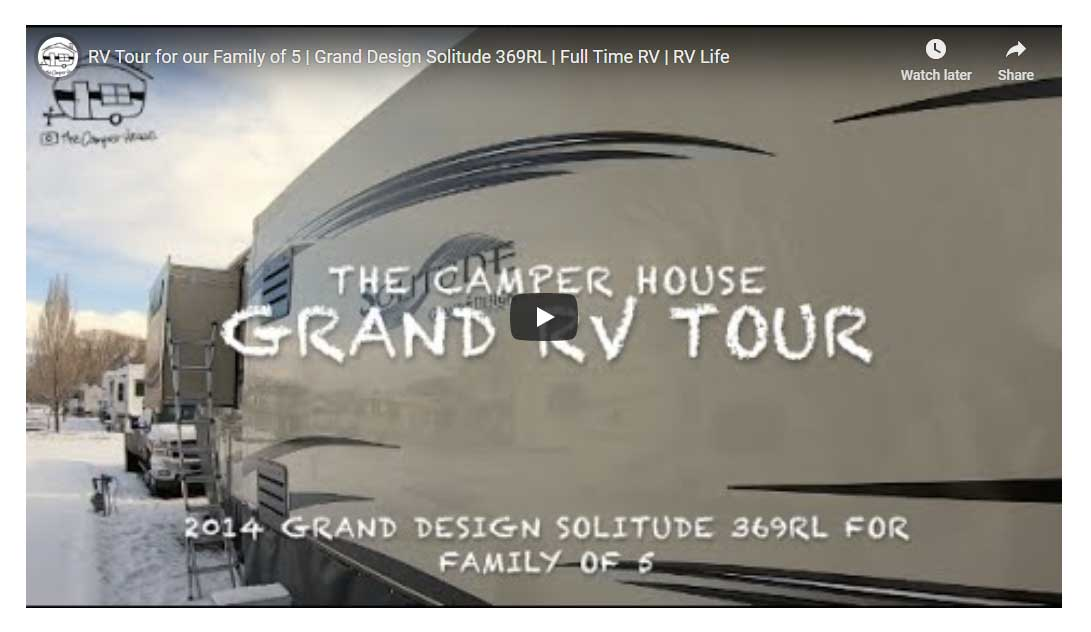 RV Tour for our Family of 5 | Grand Design Solitude 369RL | Full Time RV